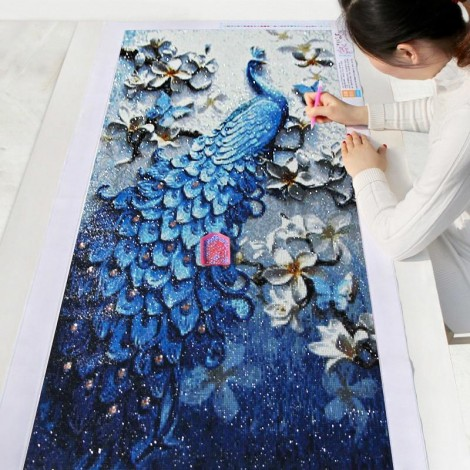 2021 Peacock Full Drill Diy Diamond Painting Kits UK